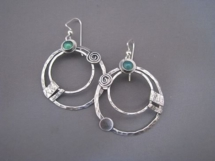 Liane Redpath metal art earrings Bellingham